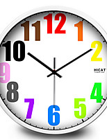 Simple And Colorful Twelve Color Digital Wall Clock