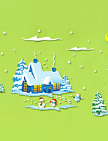 Wall Stickers Wall Decals Style Christmas Snow PVC Wall Stickers