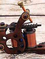 esculpida de cobre puro l secante tatuagem máquina de 12 bobina tatuagem high-end pintura de paisagem profissional