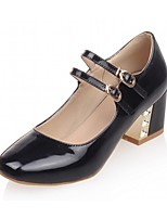 Women's Shoes Leatherette Spring / Summer / Fall Heels Heels Office & Career / Dress / AppliqueBlack /