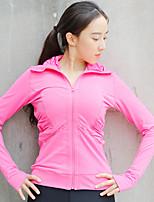 Running Tracksuit Women's Long Sleeve Lightweight Materials / Comfortable Running Sports Sports Wear Pink / Black