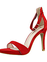 Women's Sandals Summer Sandals PU Casual Stiletto Heel Others Black / Pink / Red / Silver / Gold Others