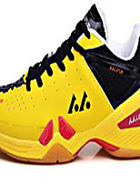 Unisex Sneakers PU Athletic Low Heel Lace-up Yellow / Green / Red / Peach Badminton
