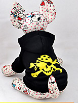 Chat / Chien Costume / Pulls à capuche Noir Hiver / Printemps/Automne Crânes Cosplay / Halloween, Dog Clothes / Dog Clothing-Other