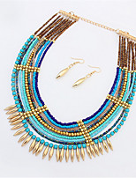 (Set)Necklace Earrings Set Fashion Exaggeration Atmosphere