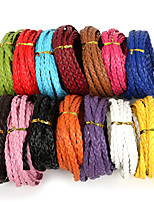 Beadia 7mm Flat Braided PU Leather Cord Rope String For DIY Jewelry Necklace Bracelet Craft Making(5Mts)
