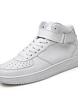 Белый Черный Черно-белый-Для мужчин-Повседневный-ДерматинУдобная обувь-Кеды