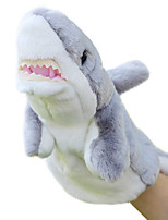 Animal Puppet Shark Plush Cartoon Toy Doll Small Grey Finger Puppets