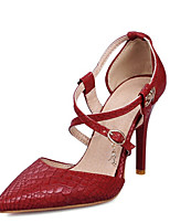 Women's Shoes Patent Leather / Customized Materials Stiletto Heel Heels / D'Orsay & Two-Piece / Party &