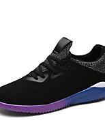 Hombre-Tacón Plano-Confort-Zapatillas de deporte-Exterior / Casual / Deporte-Tul-Negro / Azul / Gris