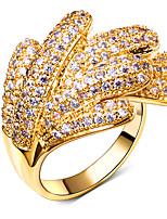 Elegant New for Women Ring White Cubic Zirconia 18K Gold & Platinum Plated Fashion Rings Wedding Jewelery Gift