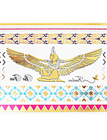 1pc Flash Metallic Waterproof Tattoo Gold Siver Eagle Heart Bracelet Temporary Tattoo Sticker YH-051