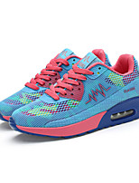 Women's Shoes Tulle Flat Heel Comfort Fashion Sneakers Outdoor / Athletic Black / Blue / Red