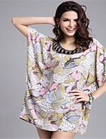 # Women's Crew Neck 1/2 Length Sleeve Shirt & Blouse Pink-45611462814