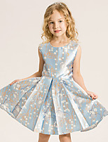 Girl's Cotton Summer Fashion Elegance Sleeveless Princess Printing Dress