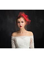 Dame Blonde / Tyll / Linfrø / Nett Headpiece-Spesiell Leilighet fascinators 1 Deler Klar Annerledes 15