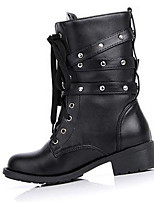 Women's Boots Fall / Winter Fashion Boots PU Casual Low Heel Others Black