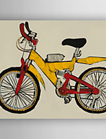 100% Handpainted Modern Abstract Bicycle Oil Painting Gym Wall Art Decor Stretched Frame