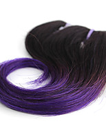 Body Wave 1 Bundles 1B/Purple Ombre Color Brazilian Body Wave Hair 100% Human Hair Weaves.