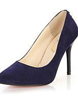 Women's Heels Summer Heels Fleece Casual Stiletto Heel Others Black / Blue / Purple / Burgundy Others