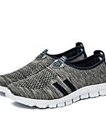 Femme-Extérieure / Décontracté / Sport-Noir / Bleu / Gris-Talon Plat-Confort-Sneakers-Tulle