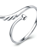 925 Silver Fashion Angel Wings Adjustable Opening Ring