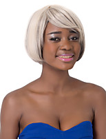 European Fashion Short Sythetic Mixed Color Straight Side Bang Party Wig For Women