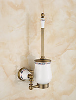 Toilet Brush Holder / Brushed / Wall Mounted /20*10*37 /Brass /Antique /20 10 0.49