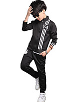 Boy's Casual Sports Print Clothing Set (Coat & Pants)