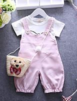Baby Kids Girls Boys Spring/Autumn Cartoon Cotton twinset long sleeve set t shirts and pant children clothing
