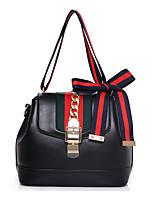 Women-Formal / Casual / Office & Career / Shopping-PU-Shoulder Bag-White / Red / Black