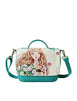 Flower Princess® Dames Canvas Schoudertas Groen-1504X001