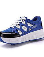 Scarpe Donna-Sneakers alla moda-Tempo libero / Casual-Innovativo-Zeppa-Tulle / Finta pelle-Blu / Verde / Rosso