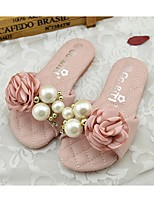 Girls' Shoes Outdoor PU Summer Comfort / Slippers / Sandals Pink / White