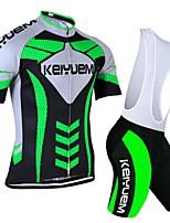 KEIYUEM Fahhrad/Radsport Kleidungs-Sets/Anzüge Unisex Kurze ÄrmelAtmungsaktiv / Rasche Trocknung / Staubdicht / tragbar /