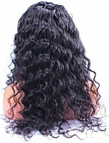 EVAWIGS Fashion Young Girls Lace Wigs Unprocessed Human Hair Full Lace Wig Natural Color Deep Wave Wigs