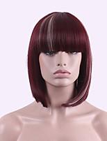 best-seller de l'Europe et les États-Unis cos perruque brune rouge teints en polyester 10 pouces