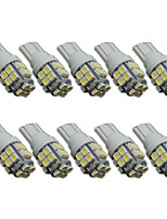 10pcs T10 20SMD 1206 White Car Wedge LED Light Auto License Plate Clearance Lamp Reading Bulb (DC12V)