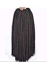# 4 Havanna / Gehäkelt Dread Locks Haarverlängerungen 14 18 inch Kanekalon 24 Strand 115-125 Gramm Haar Borten