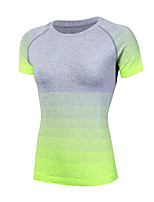 Running Sweatshirt / T-shirt Women's Short Sleeve Breathable / Quick Dry / Compression / Sweat-wicking Yoga / Fitness / Running Sports