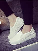 Women's Flats Summer Closed Toe / Comfort PU Casual Flat Heel Others Black / White