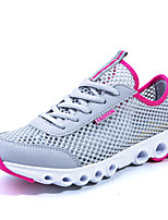 Women's Shoes Tulle Flat Heel Comfort Fashion Sneakers Athletic Blue / Green / Gray / Fuchsia