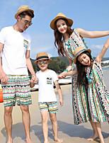 שמלה / סט של בגדים-בינוני-מיקרו-גמיש-שרוול קצר(כותנה)