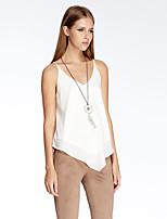 Herz Soul® Damen Gurt Ärmellos T-Shirt Weiß-11AA24154