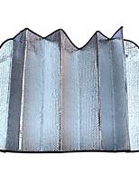 la plata de la burbuja de aislamiento sol caras anti-UV sombrilla del coche 140 * 70cm