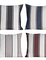 Polyester Pillow Cover , Striped-four pcs