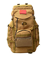 75 L Backpack Camping & Hiking Outdoor Multifunctional Brown / Camouflage Oxford Other