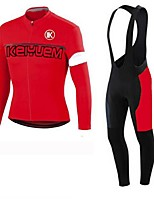 KEIYUEM®Others Winter Thermal Fleece Long Sleeve Cycling Jersey+Bib Tights Ropa Ciclismo Cycling Clothing Suits #W24