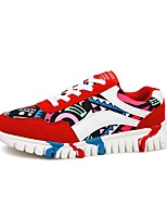 Women's Shoes Fabric Spring / Summer / Fall Comfort Athletic Flat Heel Black / Blue / Red