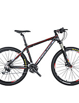 Mountain Bike Men's Air Suspension Fork Double Disc Brake Aluminium 27Speed 26 Inch Aluminium Red